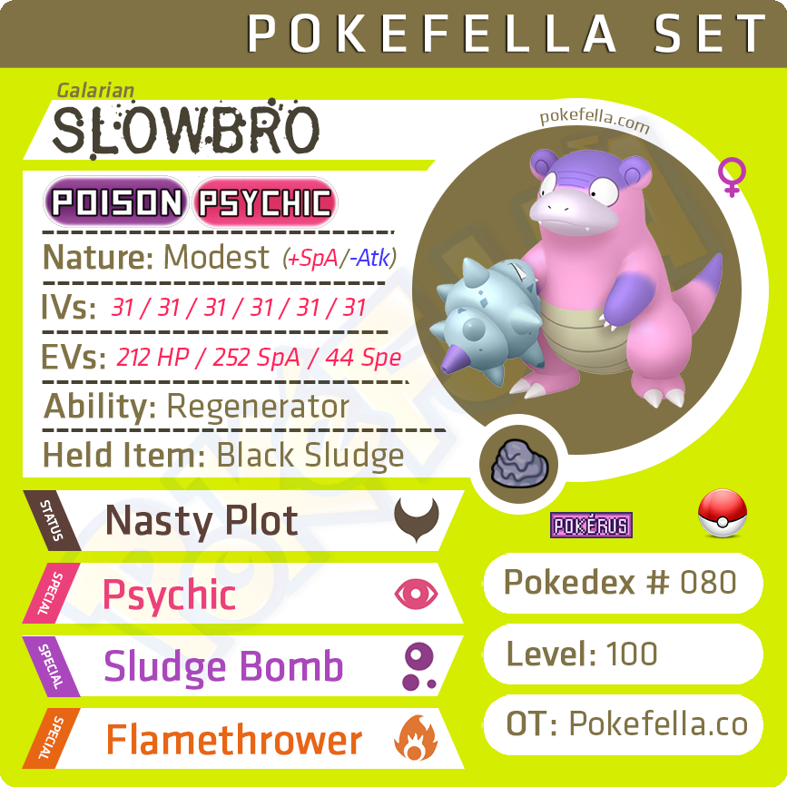 Galarian Slowking • Competitive • 6IVs • Level 100 • Online Battle-Ready