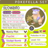 Galarian Slowbro • Competitive • 6IVs • Level 100 • Online Battle-Ready