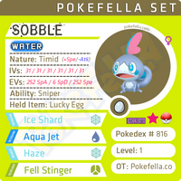ultra square shiny Galar Starters - Sobble • Competitive • 6IVs • Level 1 • Hidden Ability • Egg Moves
