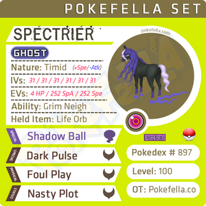 Spectrier • Competitive • 6IVs • Level 100 • Online Battle-Ready