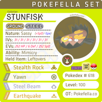 ultra square shiny Galarian Stunfisk • Competitive • 6IVs • Level 100 • Online Battle-ready