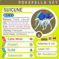 Suicune • Competitive • 6IVs • Level 100 • Online Battle-Ready