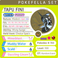 Tapu Fini • Competitive • 6IVs • Level 100 • Online Battle-Ready