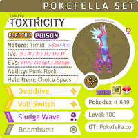 ultra square shiny Toxtricity (Amped & Low Key) • Competitive • 6IVs • Level 100 • Online Battle-ready
