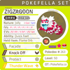 ultra square shiny Galarian Zigzagoon • Competitive • 6IVs • Level 99 • Online Battle-ready