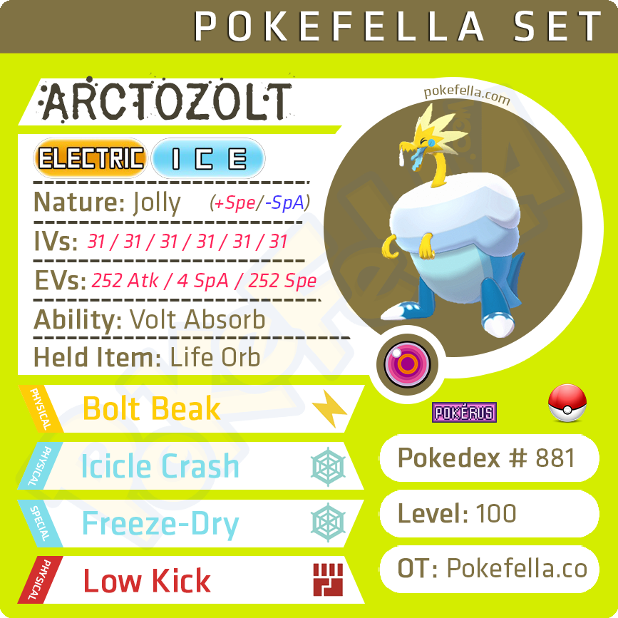 Arctozolt • Competitive • 6IVs • Level 100 • Online Battle-ready