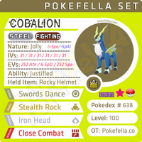 ultra square shiny Cobalion • Competitive • 6IVs • Level 100 • Online Battle-ready
