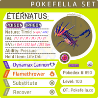shiny Eternatus • Competitive • 6IVs • Level 100 • Online Battle-ready Dynamax Cannon Pokemon Sword Shield