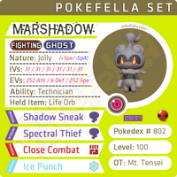 Marshadow • Competitive • 6IVs • Level 100 • Online Battle-ready