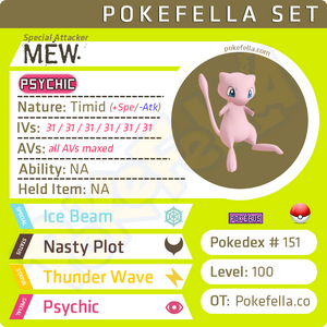 ultra square shiny Mew • Competitive • 6IVs • Level 100 • Online Battle-ready