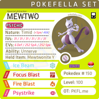 ultra square shiny Mewtwo • Competitive • 6IVs • Level 100 • Online Battle-ready