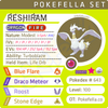 ultra shiny Reshiram • Competitive • 6IVs • Level 100 • Online Battle-ready
