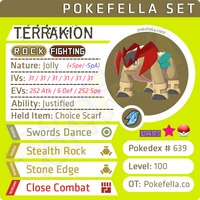 ultra square shiny Terrakion • Competitive • 6IVs • Level 100 • Online Battle-ready