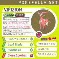 ultra square shiny Virizion • Competitive • 6IVs • Level 100 • Online Battle-ready