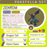 ultra shiny Zekrom • Competitive • 6IVs • Level 100 • Online Battle-ready