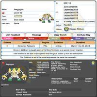 Heatran & Regigigas • OT: Légendes2018 • ID No. 030118 • Level 100 • Pokémon Ultra Sun & Moon Pokemon Legendary Celebration Distribution 2018