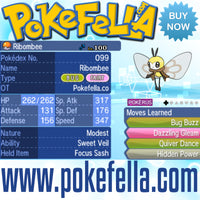 Totem Ribombee Sweet Veil Focus Sash Bug Buzz Dazzling Gleam Quiver Dance Hidden Power Battle-ready Competitive Perfect 6IVs Non-shiny buy for sale