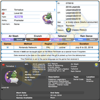 Tornadus & Thundurus • OT: 2018 Legends • ID No. 070618 • Level 60 • Pokémon Sun & Moon