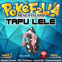 Akala Island Shiny Tapu Lele • OT: Akala, アーカラ, 아칼라 • ID No. 181130 • 2018 International Challenge November Event