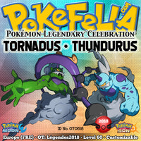 Tornadus & Thundurus • OT: Légendes2018 • ID No. 070618 • Level 60 • Pokémon Sun & Moon