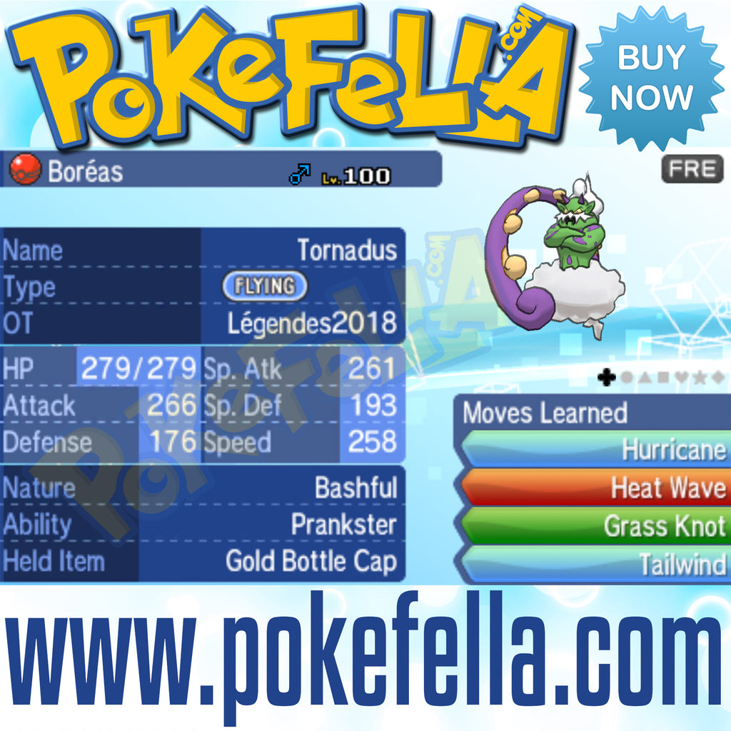 Tornadus & Thundurus • OT: Légendes2018 • ID No. 070618 • Level 100 • Pokémon Ultra Sun & Ultra Moon