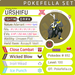 ultra square shiny Gigantamax Urshifu (Single Strike) • Competitive • 6IVs • Level 100 • Online Battle-ready