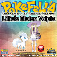 Lillie's Alolan Vulpix • OT: リーリエ • ID No. 170705 • Ash's Classmates' Partner Pokémon • Japan 2017 Event
