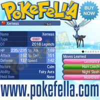 Xerneas & Yveltal • OT: 2018 Legends • ID No. 050418 • Level 60 • Pokémon Sun & Moon Pokémon Legendary Celebration Distribution 2018