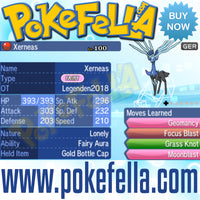Xerneas & Yveltal • OT: Legenden2018 • ID No. 050418 • Level 100 • Pokémon Ultra Sun & Ultra Moon Pokémon Legendary Celebration Distribution 2018