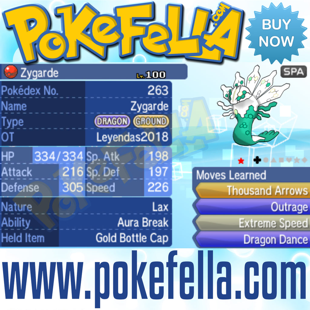 Zygarde • OT: Leyendas2018 • ID No. 060118 • Shiny, Level 100 • Pokémon Legendary Celebration