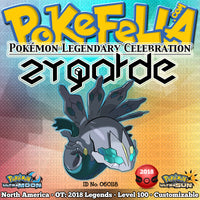 Zygarde • OT: 2018 Legends • ID No. 060118 • Shiny, Level 100 • Pokémon Legendary Celebration