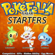 ultra square shiny Galar Starters - Grookey, Scorbunny, Sobble • Competitive • 6IVs • Level 1 • Hidden Ability • Egg Moves
