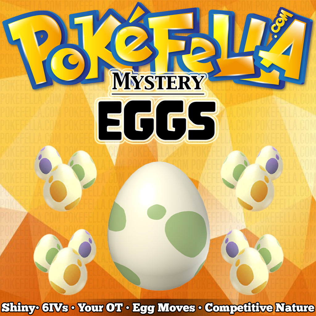 Buy Pokémon shiny Mystery Eggs • 6IVs • Egg Moves • Your OT • Competitive Nature