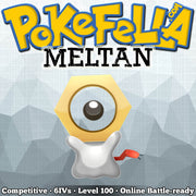 shiny Meltan • Competitive • 6IVs • Level 100 • Online Battle-ready