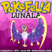 ultra shiny Lunala • Competitive • 6IVs • Level 100 • Online Battle-ready
