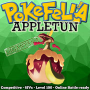 ultra square shiny Gigantamax Appletun • Competitive • 6IVs • Level 100 • Online Battle-ready