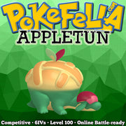 ultra square shiny Appletun • Competitive • 6IVs • Level 100 • Online Battle-ready
