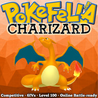ultra square shiny Charizard • Competitive • 6IVs • Level 100 • Online Battle-ready