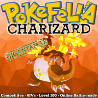 ultra square shiny Gigantamax Charizard • Competitive • 6IVs • Level 100 • Online Battle-ready