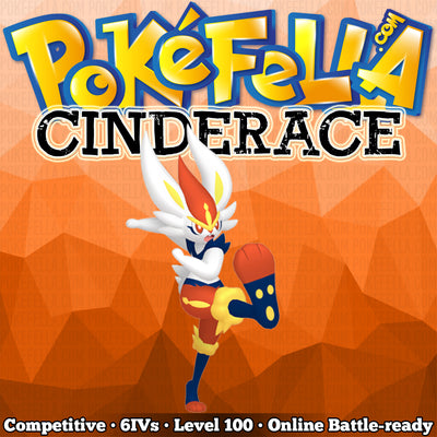 ultra square shiny Cinderace • Competitive • 6IVs • Level 100 • Hidden Ability Online Battle-ready