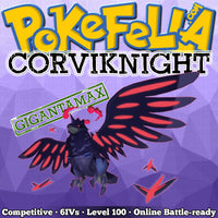 ultra square shiny Gigantamax Corviknight • Competitive • 6IVs • Level 100 • Online Battle-ready