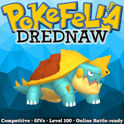ultra square shiny Drednaw • Competitive • 6IVs • Level 100 • Online Battle-ready