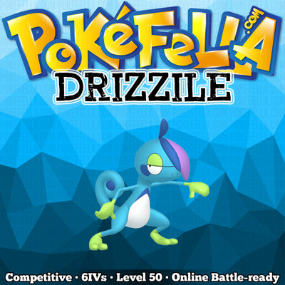 ultra square shiny Drizzile • Competitive • 6IVs • Level 50 • Online Battle-ready