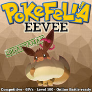 ultra square shiny Gigantamax Eevee • Competitive • 6IVs • Level 100 • Online Battle-ready