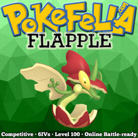ultra square shiny Flapple • Competitive • 6IVs • Level 100 • Online Battle-ready