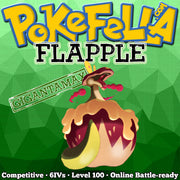 ultra square shiny Gigantamax Flapple • Competitive • 6IVs • Level 100 • Online Battle-ready
