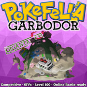 ultra square shiny Gigantamax Garbodor • Competitive • 6IVs • Level 100 • Online Battle-ready