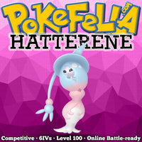 ultra square shiny Hatterene • Competitive • 6IVs • Level 100 • Online Battle-ready