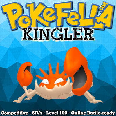 ultra square shiny Kingler • Competitive • 6IVs • Level 100 • Online Battle-ready