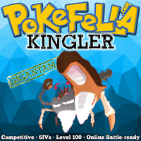 ultra square shiny Gigantamax Kingler • Competitive • 6IVs • Level 100 • Online Battle-ready